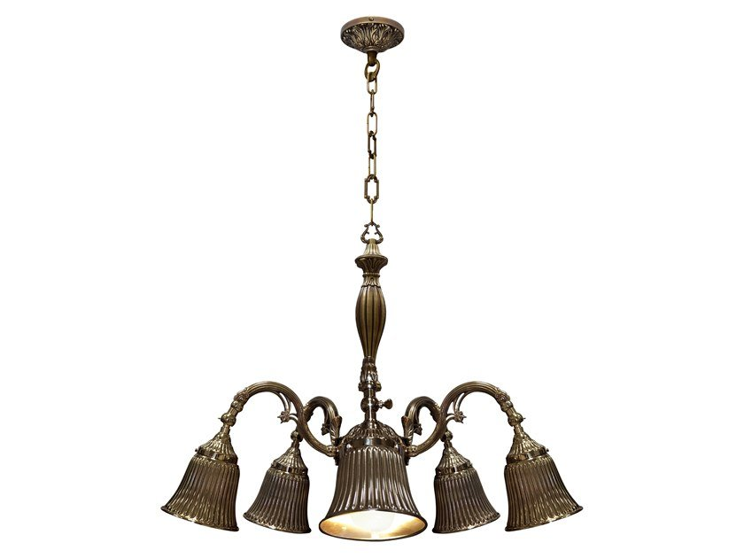 Brass pendant lamp MILAZZO III | Pendant lamp by FEDE
