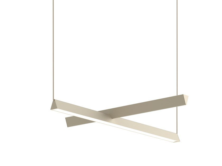LED direct-indirect light pendant lamp MILE 01 by Lambert & Fils