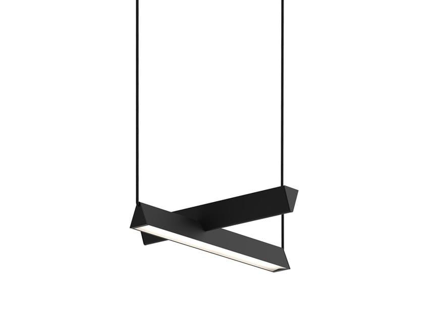 LED direct-indirect light pendant lamp MILE 02 by Lambert & Fils