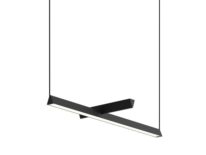 LED direct-indirect light pendant lamp MILE 03 by Lambert & Fils