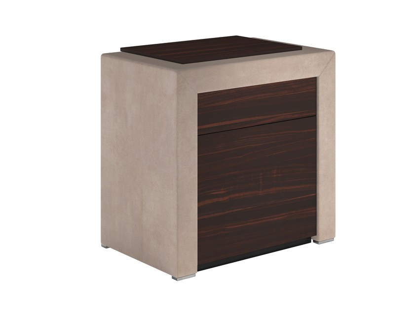 Solid wood bedside table with drawers MILES by Capital Collection
