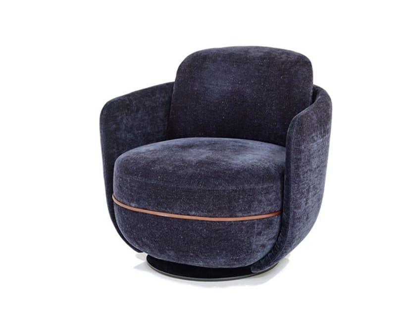Swivel fabric armchair MILES | Swivel armchair by Wittmann