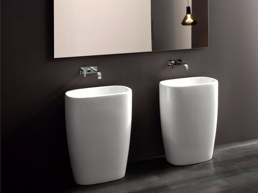 Freestanding ceramic washbasin MILK | Freestanding washbasin by Nic Design