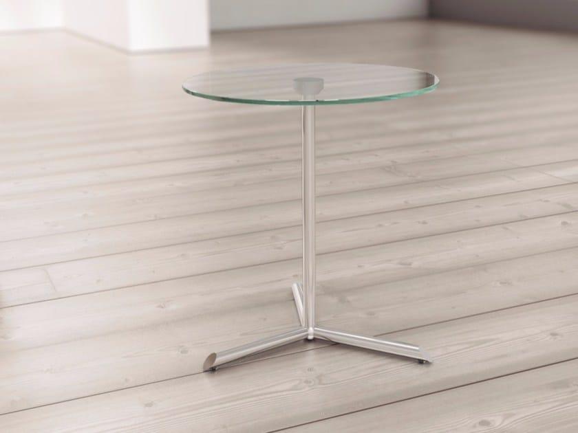 Tavolino rotondo in vetro per contract MIYC-MIOC by Systemtronic
