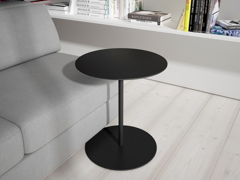 Round MDF bistro side table MILL | MDF coffee table by Systemtronic