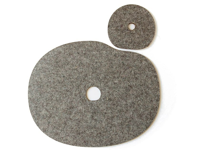 Wool felt drink coaster / placemat MILLSTONES | Felt Set by Namuos