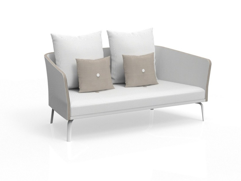 Milo 2 seater garden sofa milo collection by talenti design marco textilene garden sofa with removable cover milo 2 seater garden sofa by talenti workwithnaturefo