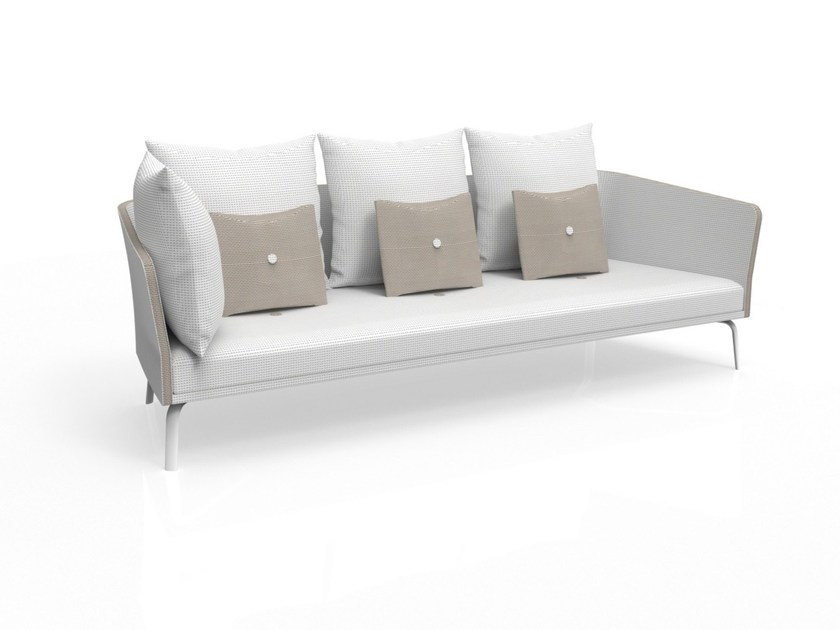 Textilene garden sofa with removable cover MILO | 3 seater garden sofa by Talenti