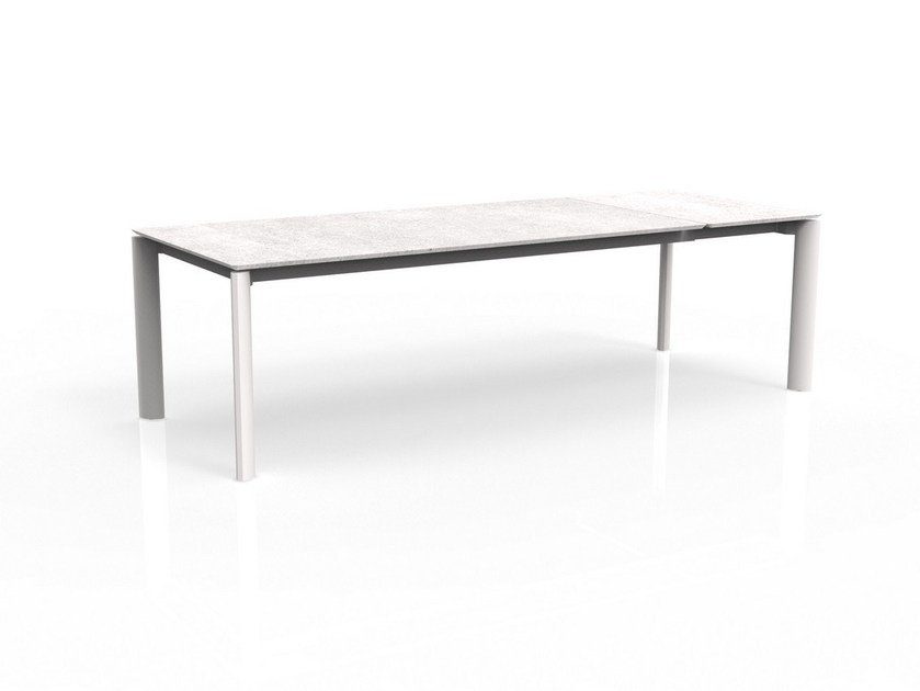 Extending ceramic garden table MILO | Ceramic table by Talenti
