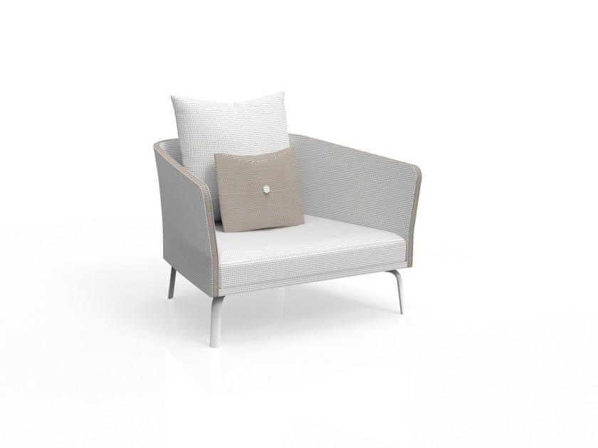 Textilene garden armchair with armrests MILO | Garden armchair by Talenti