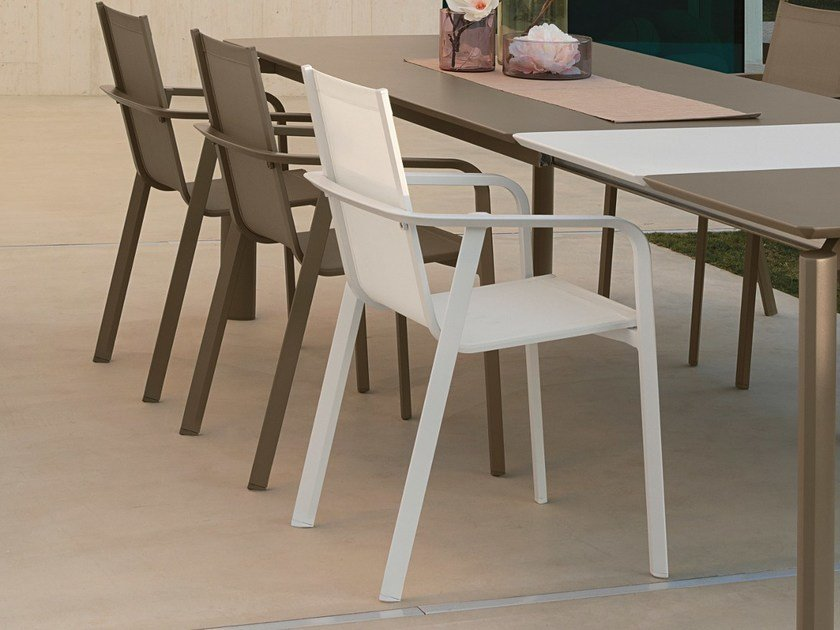 Stackable garden chair with integrated cushion MILO | Garden chair by Talenti