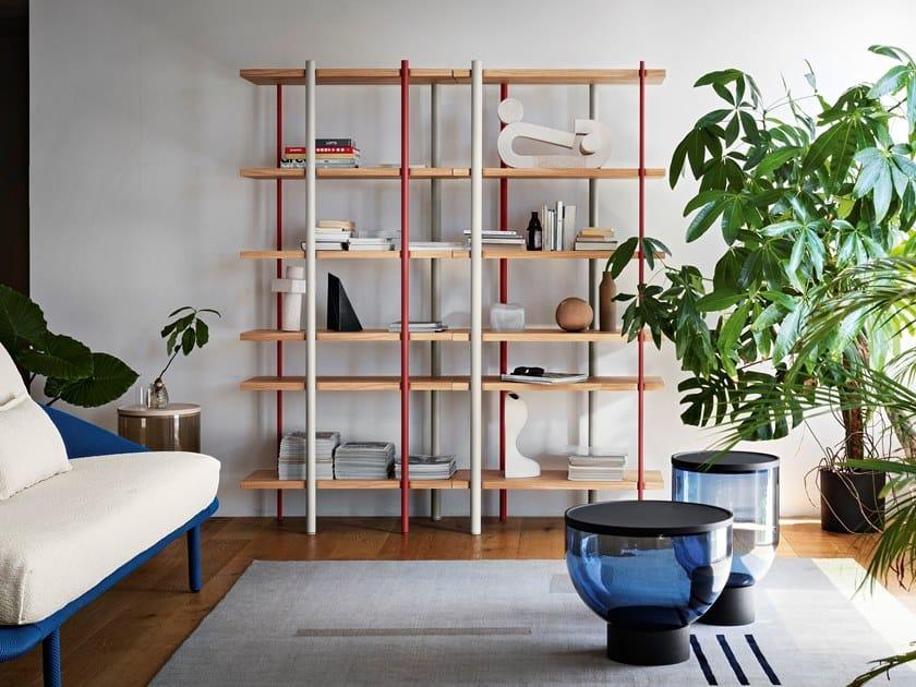 Freestanding wooden bookcase MILONGA by Miniforms