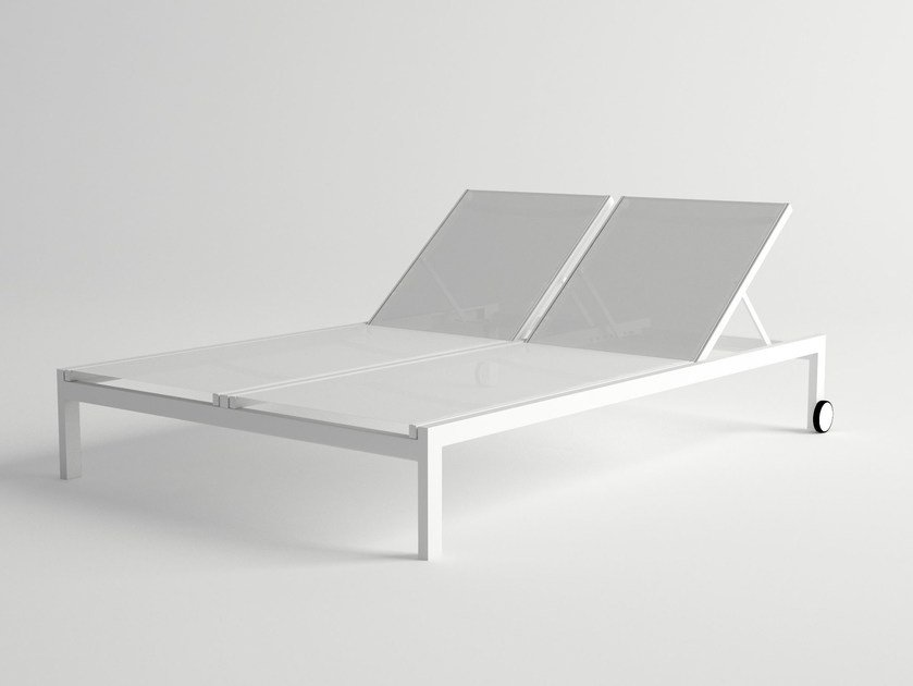 Double Recliner aluminium garden daybed MILOS | Double garden daybed by 10Deka
