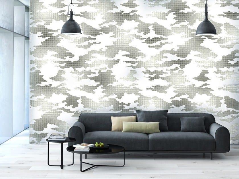 Geometric nonwoven wallpaper MIMESI GRIGIO by MyCollection.it