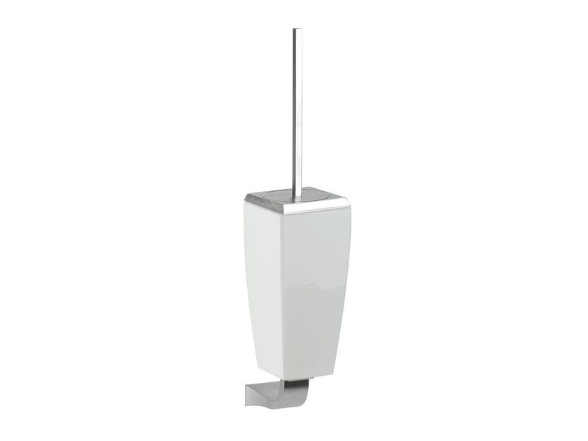 Wall-mounted ceramic toilet brush MIMI ACCESSORIES 33220 by Gessi
