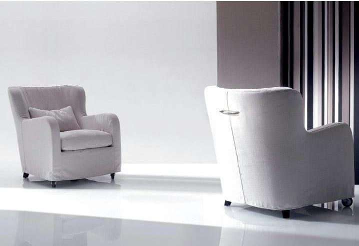 Fabric armchair with armrests MIMILLA | Fabric armchair by Marac