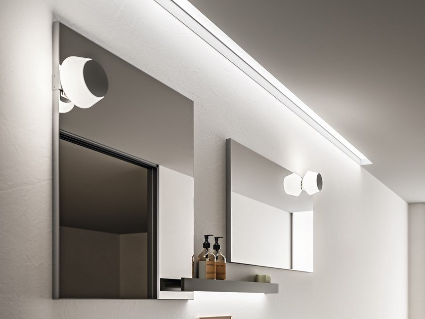 Glass and steel Mirror lamp MINÙ by Cerasa