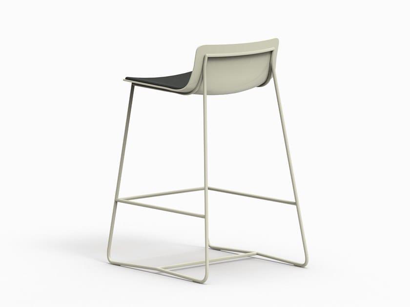 Sled base fabric counter stool MINA by FARELL