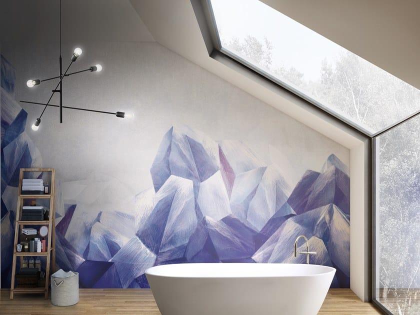 Carta da parati geometrica panoramica MINERAL by Inkiostro Bianco