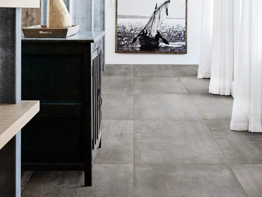Porcelain stoneware wall/floor tiles with metal effect MINERAL by MARAZZI