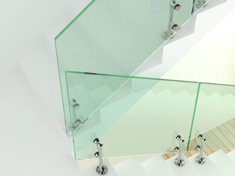 Glass and Stainless Steel balustrade MINERVA by FARAONE