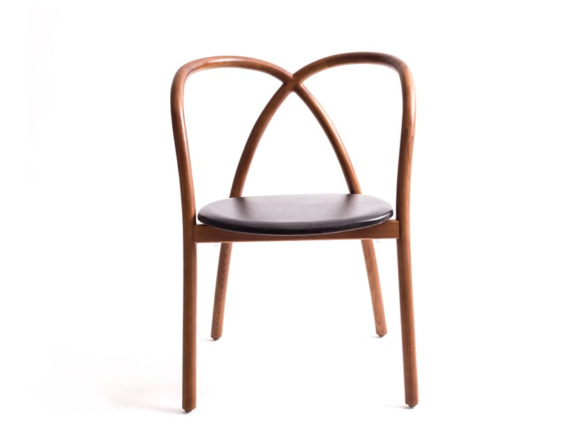 Leather restaurant chair MING CHAIR SOFT by STELLAR WORKS