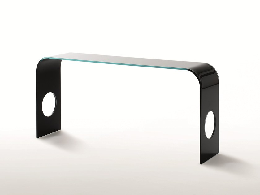 Rectangular crystal console table MING by Glas Italia