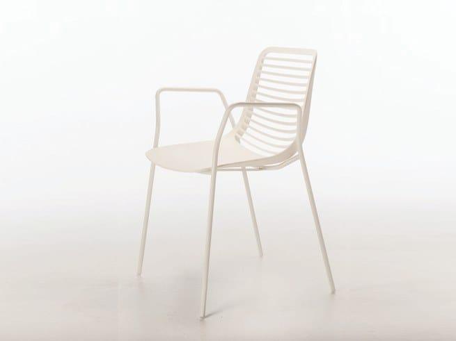 Nylon® chair with armrests MINI ARMCHAIR by Casprini