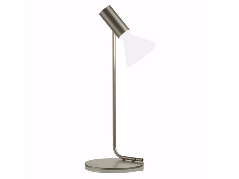 LED glass and steel table lamp MINI BEAM by ROCHE BOBOIS