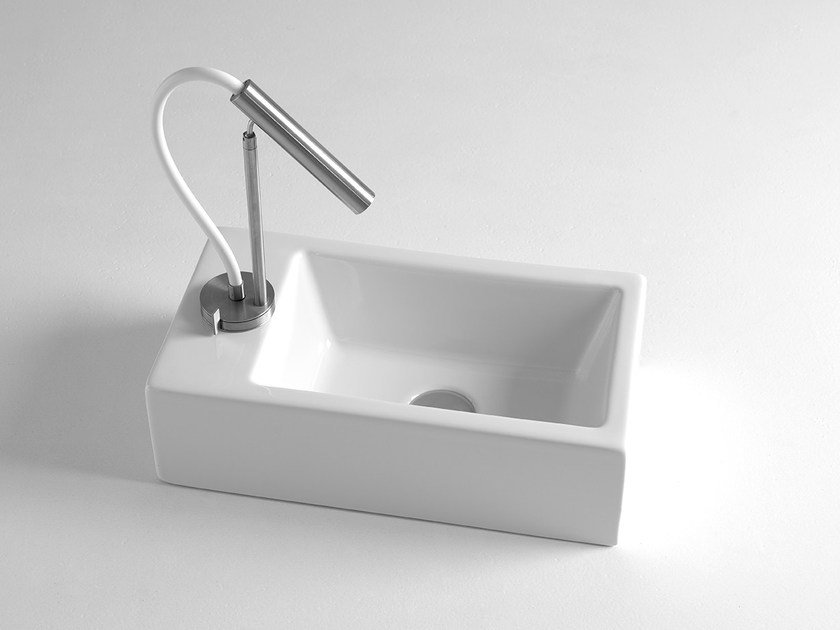 Countertop rectangular ceramic handrinse basin MINI by BLEU PROVENCE