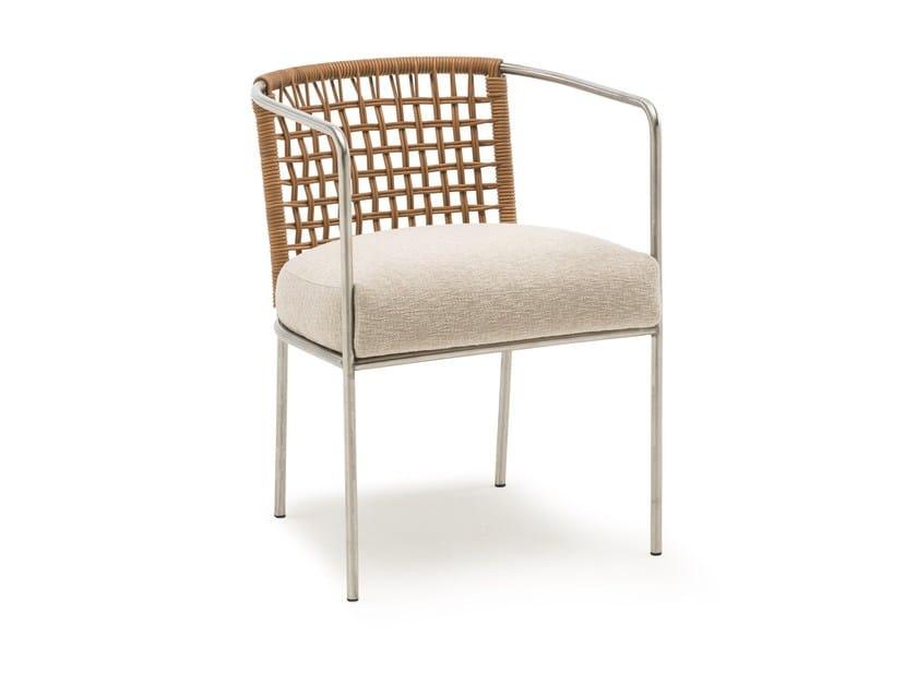Sedia in acciaio con braccioli MINI CAFÉ by Living Divani
