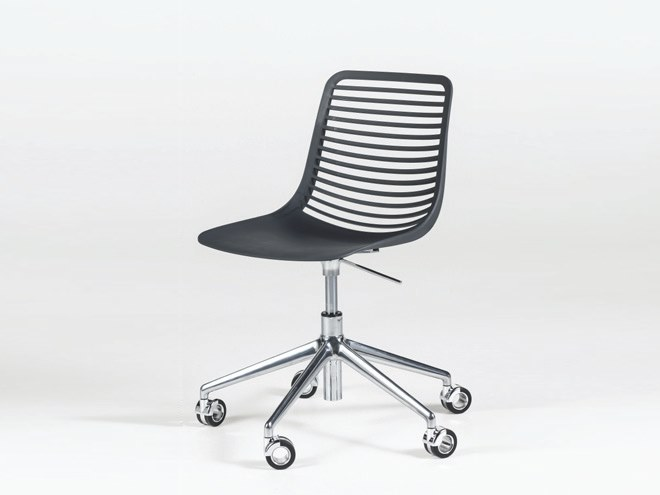 Height-adjustable Nylon® chair with 5-spoke base with casters MINI DESK by Casprini