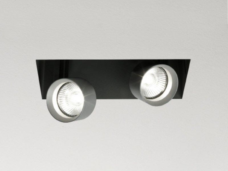 Recessed adjustable painted metal spotlight MINI INCAS | Rectangular spotlight by LUCIFERO'S