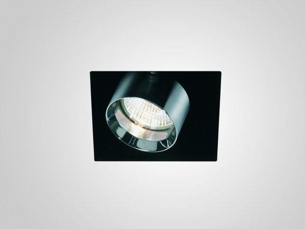 Recessed adjustable painted metal spotlight MINI INCAS   Square spotlight by LUCIFERO'S