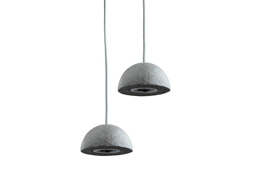 LED direct light Recycled paper pendant lamp MINI KABO by INDI