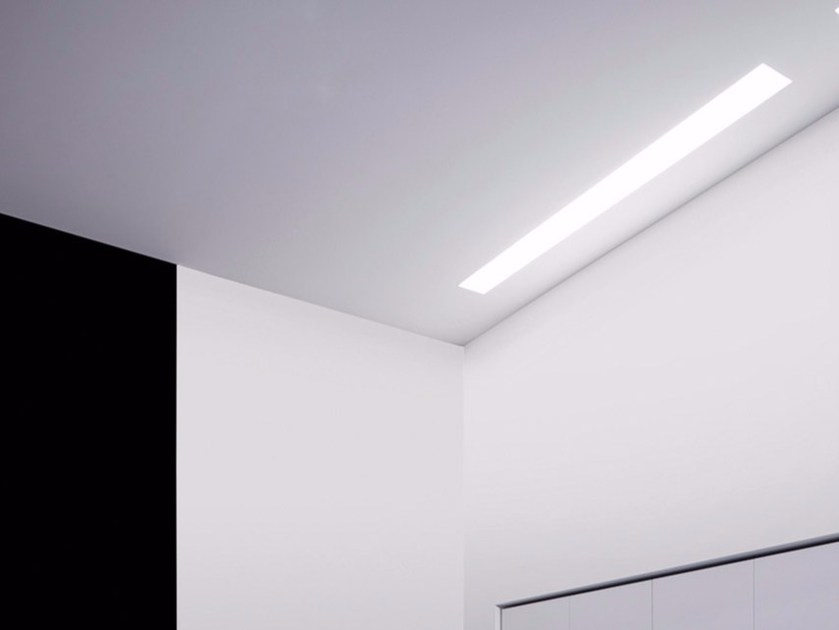 Fluorescent recessed ceiling lamp MINI LINEA by DAVIDE GROPPI