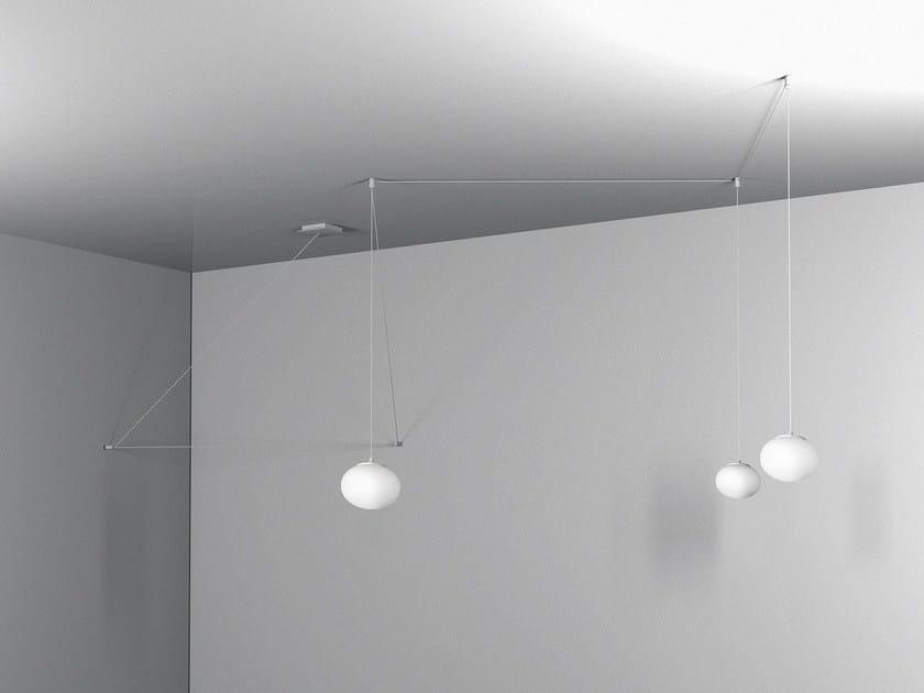LED glass pendant lamp WAVE By Baranska Design design Edyta Baranska