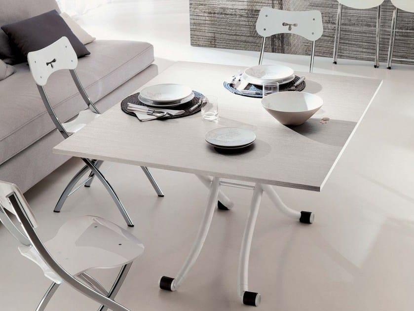 Height-adjustable melamine coffee table MINI by Ozzio Italia