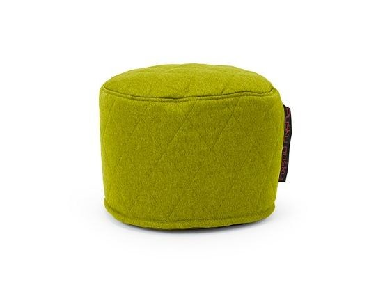 Upholstered fabric bean bag pouf MINI QUILTED NORDIC by Pusku pusku