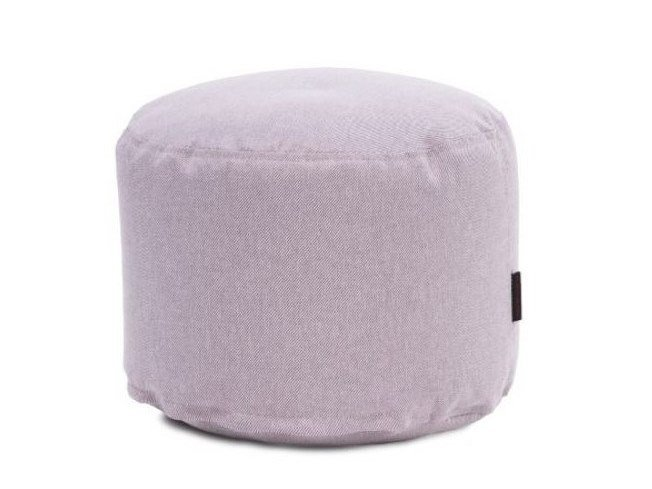 Upholstered round pouf with removable lining MINI RIVIERA by Pusku pusku