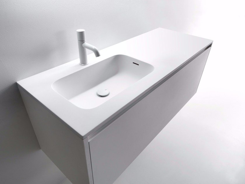 Cristalplant® Biobased top with integrated washbasin MINI ROUND by FALPER