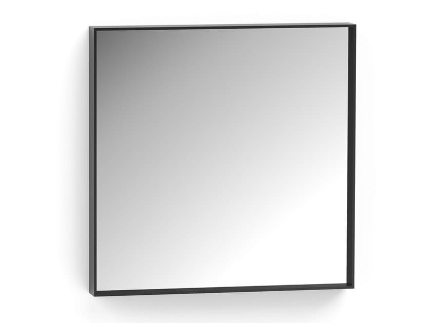 Square framed metal mirror MINI | Square mirror by ALBEDO