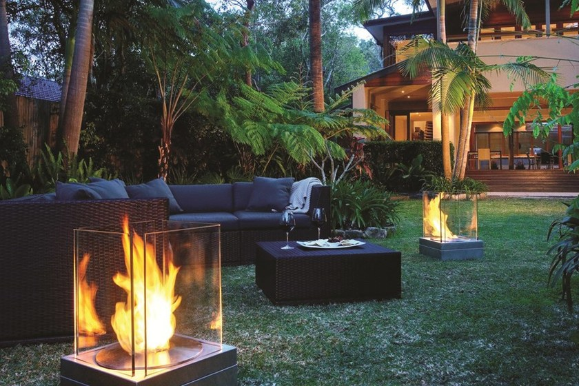 Bioethanol outdoor fireplace MINI T by EcoSmart Fire
