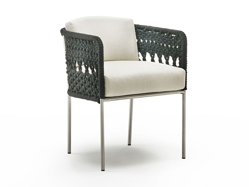 Garden chair with armrests MINI TOMBOLO by Living Divani