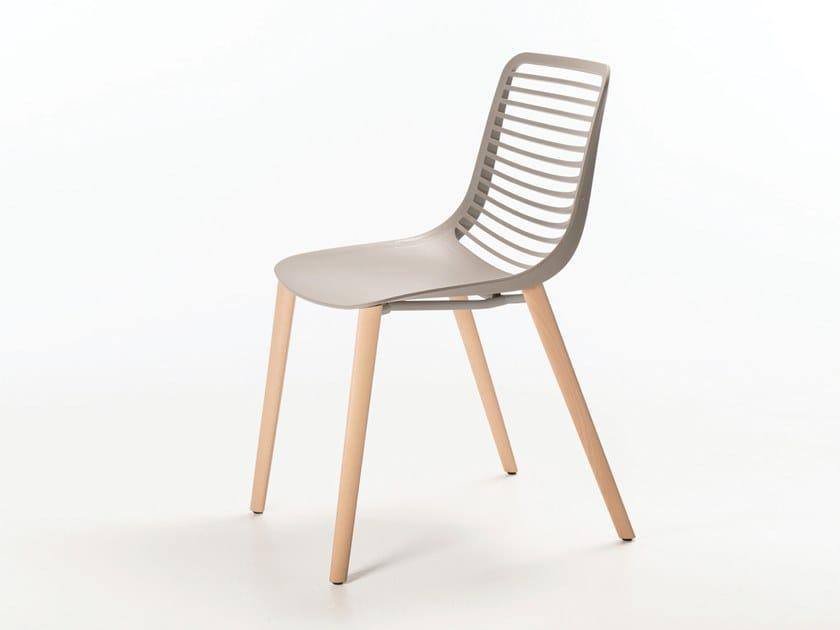 Nylon® chair MINI WOOD by Casprini