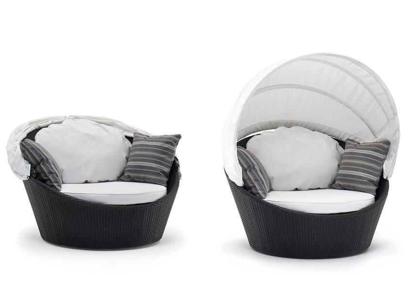 Synthetic fibre garden sofa MINIARENA | Garden sofa by Varaschin