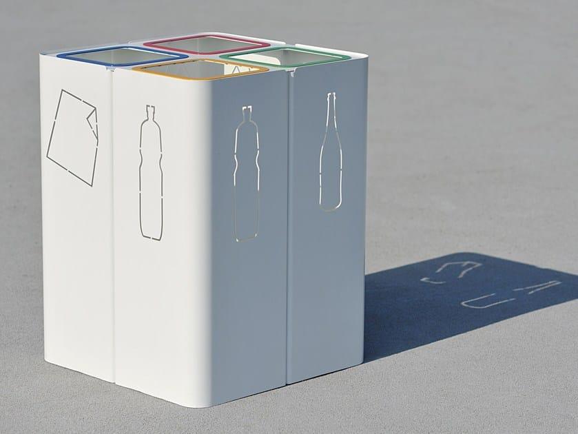 Portarifiuti in acciaio per raccolta differenziata MINILLERO by LAB23