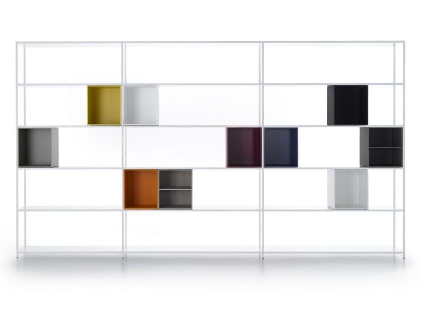 Libreria a giorno in alluminio MINIMA 3.0 SYSTEM by MDF Italia