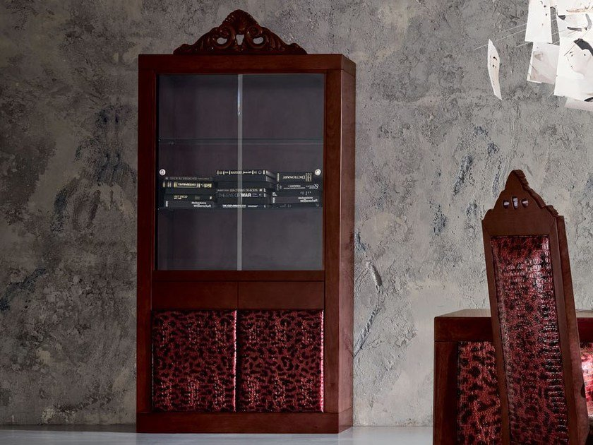 Wood and glass display cabinet MINIMAL BAROQUE | Display cabinet by Modenese Gastone