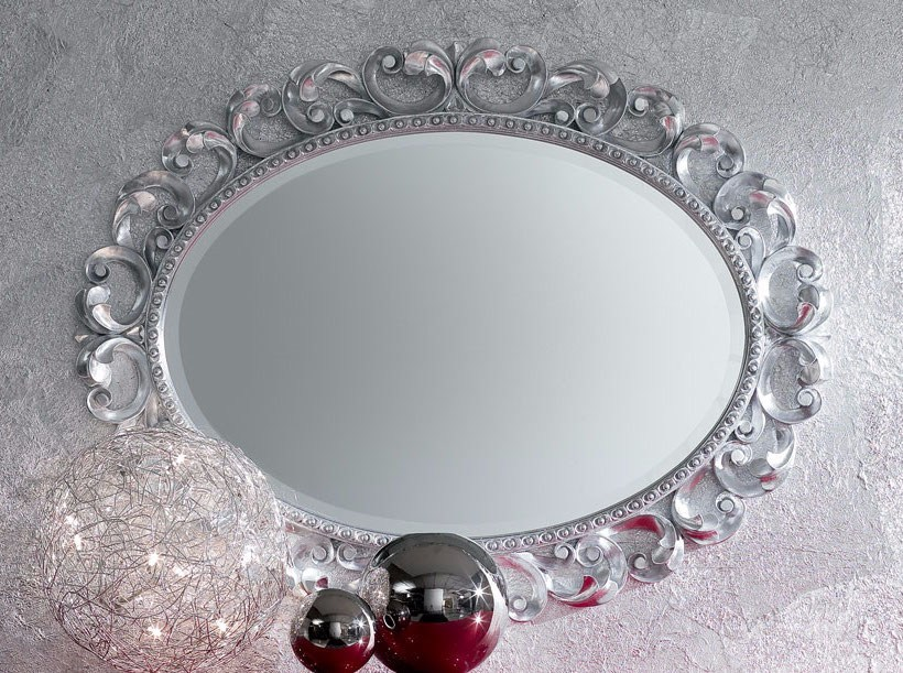 Oval wall-mounted framed mirror MINIMAL BAROQUE | Wall-mounted mirror by Modenese Gastone